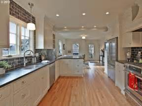 Corridor Shaped Kitchen by Kitchen Peninsula With Seating Galley Kitchen With