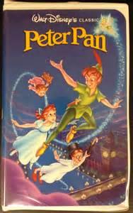 Walt Disney Classics VHS Peter Pan Movies 1990