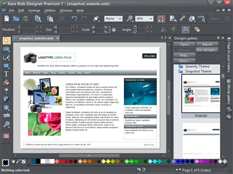 web design programs xara web designer plus serial key free