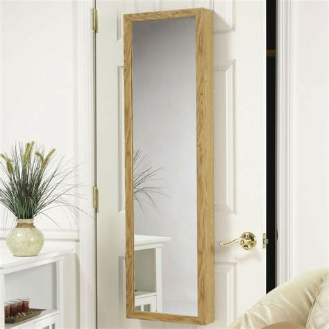 Wall Mount Jewelry Cabinet by Vanity Mirror The Door Or Wall Mount Jewelry Armoire