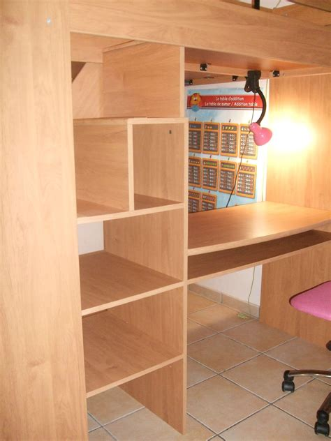 combin 233 lit en hauteur avec escalier bureau et