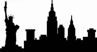 Skyline York Nyc Liberty Statue Cut Silhouette