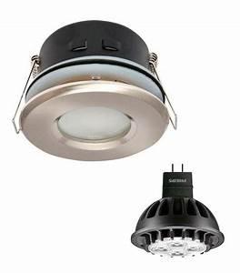 Ampoule Salle De Bain : pack spot encastrable salle de bain nickel satin rond gu5 ~ Melissatoandfro.com Idées de Décoration