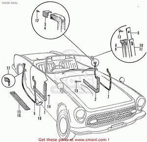 Honda S800 Convertible Door Seal