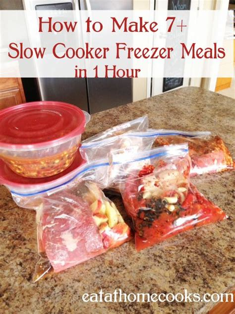 easy cooker meal how to make 7 slow cooker freezer meals in 1 hour freezer meals teriyaki chicken and freezer