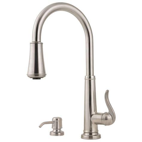 kitchen faucets stainless steel pfister ashfield single handle pull sprayer kitchen