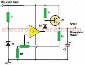 12v Power Supply Using Zener And 741 Op  Amp