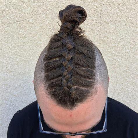 brilliant braided buns  men double  style