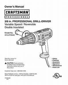 Craftsman Drill 315 27994 User Guide