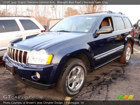 2005 grey jeep grand cherokee midnight blue pearl 2005 jeep grand cherokee limited 4x4