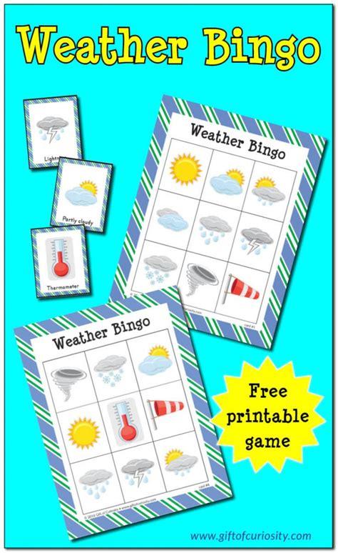 free weather bingo printables free homeschool deals 608 | cap 25 627x1024