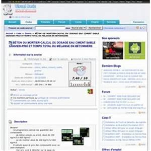 Dosage Béton Avec Mélange Sable Gravier : gros oeuvre pearltrees ~ Premium-room.com Idées de Décoration