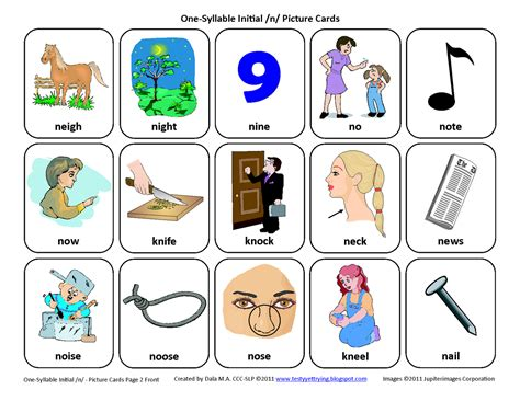 One-syllable Word List By