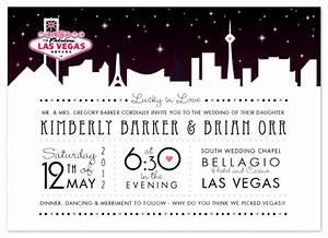 wedding invitations vegas skyline at mintedcom With las vegas post wedding reception invitations