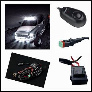 40 Amp Led Light Bar Wiring Harness Relay On    Off Switch