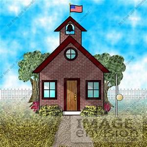 Image Gallery old school building cartoon