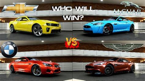 Forza 5 - BMW M6 vs Camaro ZL1 vs Jaguar XKR-S vs Aston ...