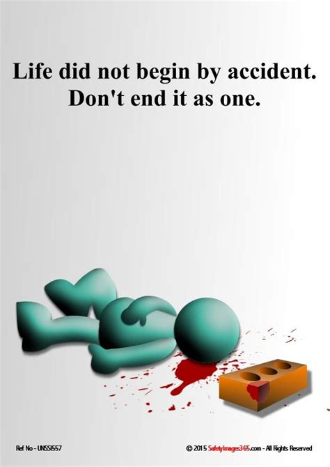 unsafe acts safety poster life     accident