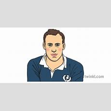 Eric Liddell Portrait Sportsman Althlete Famous Person Ks1 Illustration