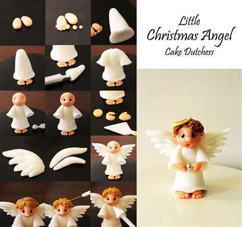 christmas angel cake dutchess polymer clay