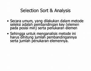 Sorting selection-sort