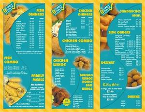 Sharks Fish and Chicken Menu and Prices 2017