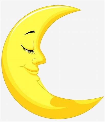 Moon Clipart Yellow Lua Crescente Dormindo Imagem