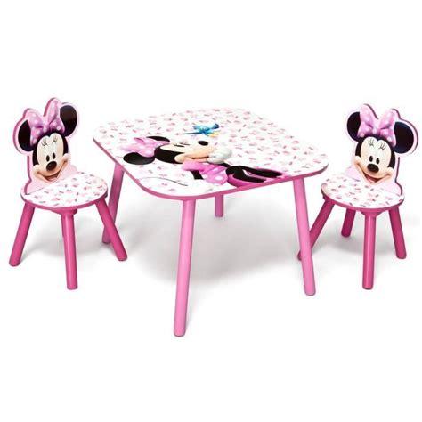 merveilleux table et chaise minnie 3 minnie table