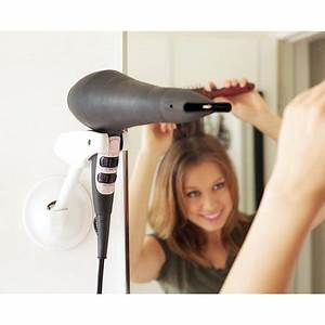 Wall Mounted Hair Dryer Holder Hands Free Stand Adjusts