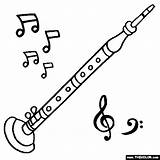 Oboe Coloring Instruments Musical Pages Drawing Instrument Thecolor Starting Letter Drawn Sheet Getdrawings sketch template