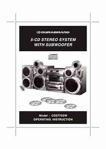 Durabrand Cd2775sw Hifi System Download Manual For Free