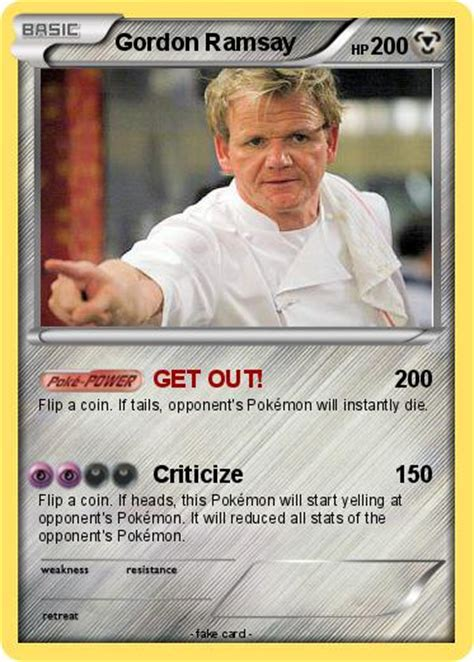 Gordon Ramsay Memes Pokemon - pok 233 mon gordon ramsay 11 11 get out my pokemon card