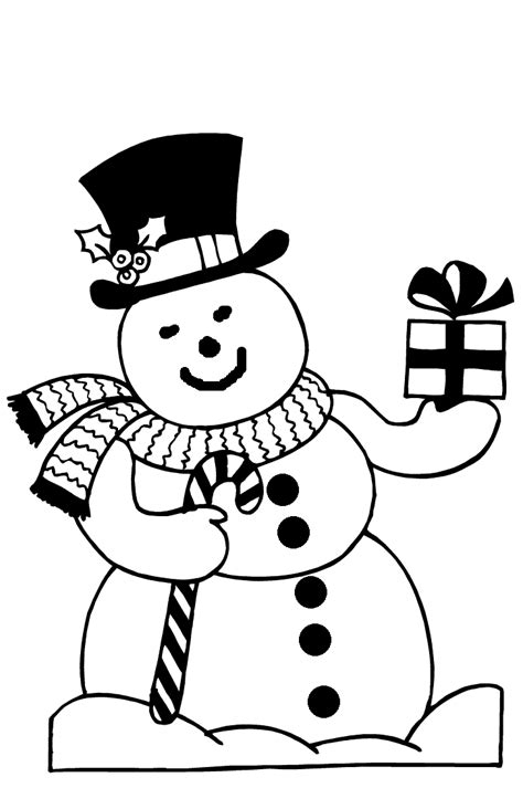 christmas snowman coloring pages coloringpagescom