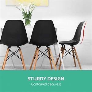 Eames Replica Deutschland : 6 x retro replica eames eiffel dining chairs cafe kitchen beech wood black aud ~ Sanjose-hotels-ca.com Haus und Dekorationen