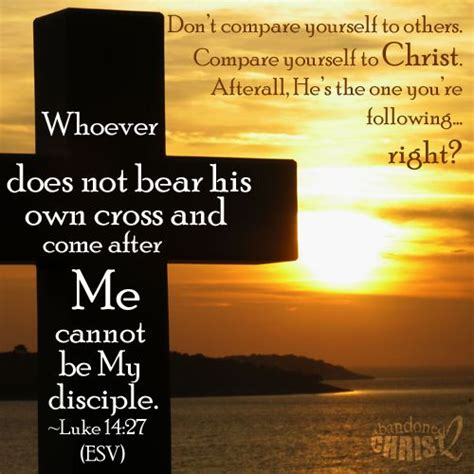 Don't Compare Yourself To Others Compare And Examine Yourself With The Word Of God, That Is