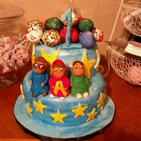 alvin and the chipmunks cake toppers pin by on food and cooking ideas