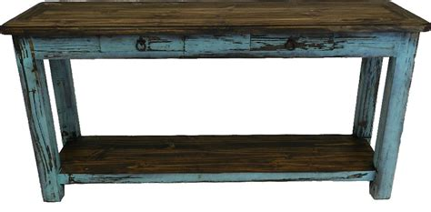 rustic wood sofa table rustic antique turquoise console table turquoise sofatable