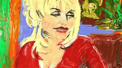 Dolly Parton Painting Gifs Lauren Laughing Giphy