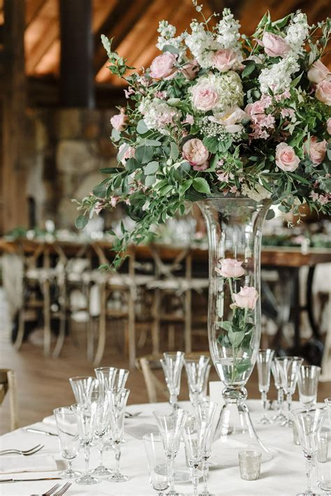 tall glass vases large floral centerpieces indoor