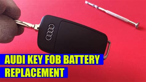 Until you replace them, you may not be able to remotely unlock your car or trigger the car's although all smart key batteries are changed in the same way, newer smart keys have a red panic button identical to older chrome keys while first. How to replace the battery on Audi key fob A3, A4, A5, A6, A7, A8, Q5