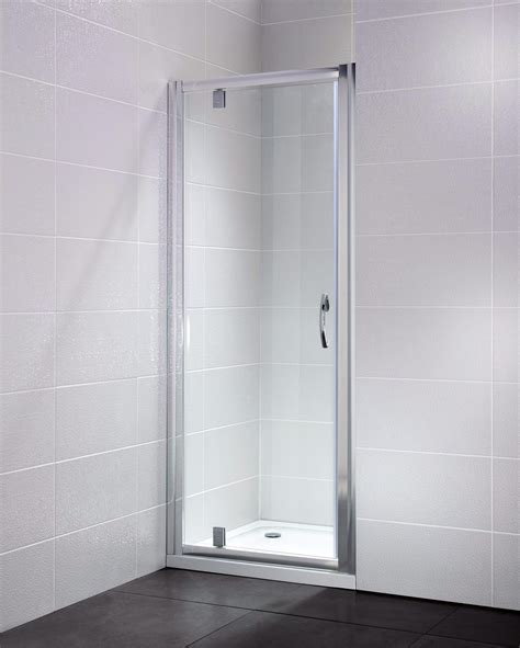 Pivot Bathroom Mirror Chrome by April Identiti2 800mm Pivot Shower Door