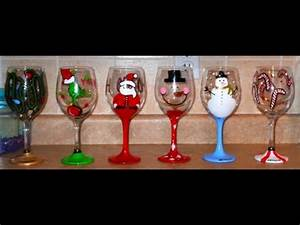 DIY Hand Painted Wine Glasses CHRISTMAS EDITION