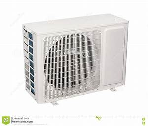 Air Conditioner, Split System Isolated Stock Photo - Image ...