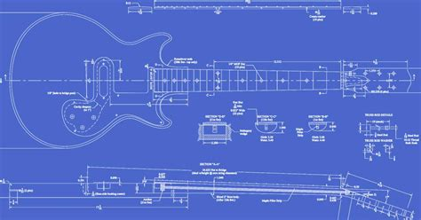 gibson melody maker guitar templates electric herald