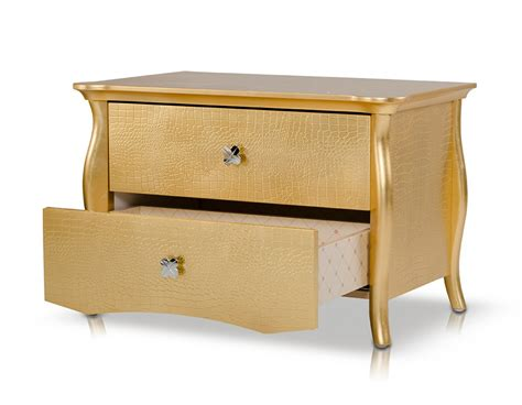 Gold Nightstand by A X Imperial Gold Nightstand Nightstands Bedroom