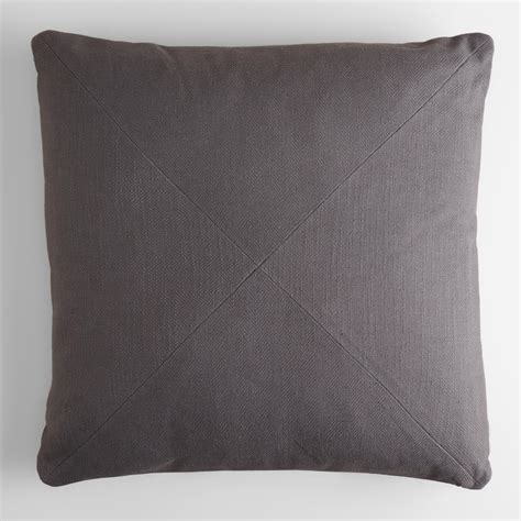 gray throw pillows tornado gray herringbone cotton throw pillow world market