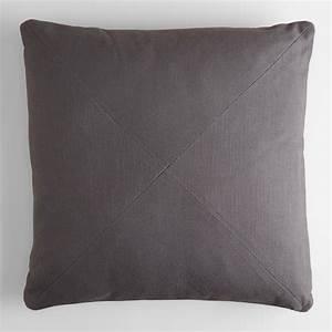 Tornado gray herringbone cotton throw pillow world market for Cheap gray throw pillows