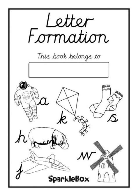 letter formation workbook cursive sb sparklebox