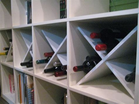 ikea expedit wine storage hack diy  kitchen book