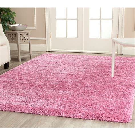 pink area rug 8x10 safavieh california shag pink 8 ft x 10 ft area rug